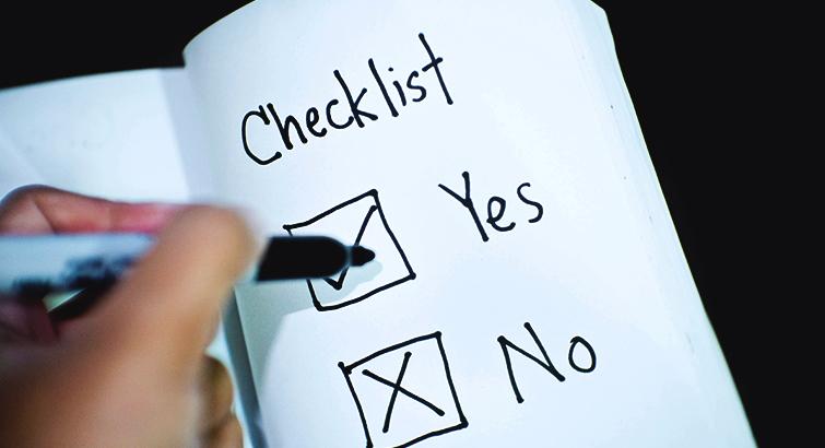 Checklist StartUp